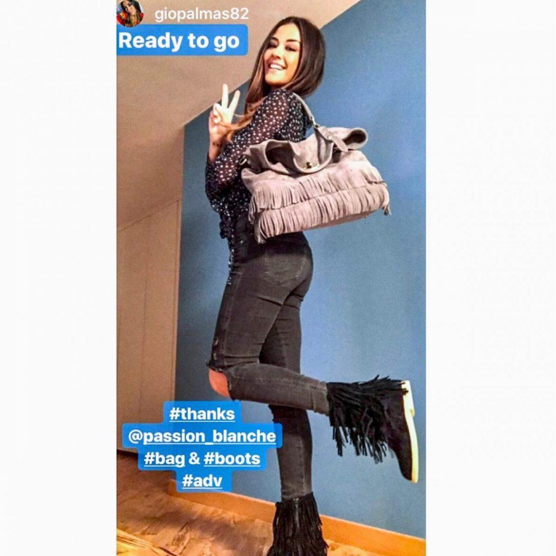 04 Giorgia Palamas - Stivale Frangia zeppa interna 4,5cm e India Bag